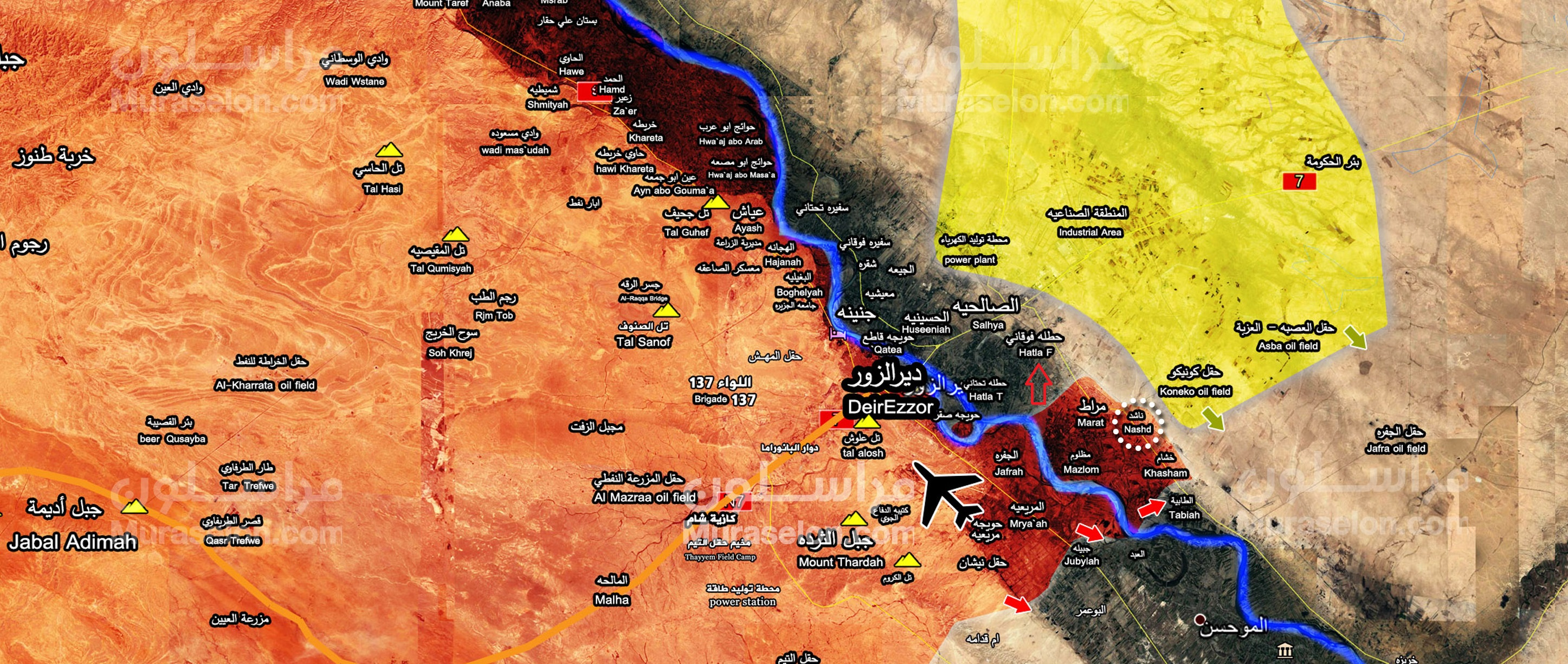 Syrian Army advances in Eastern Bank of Euphrates River in Deir ...