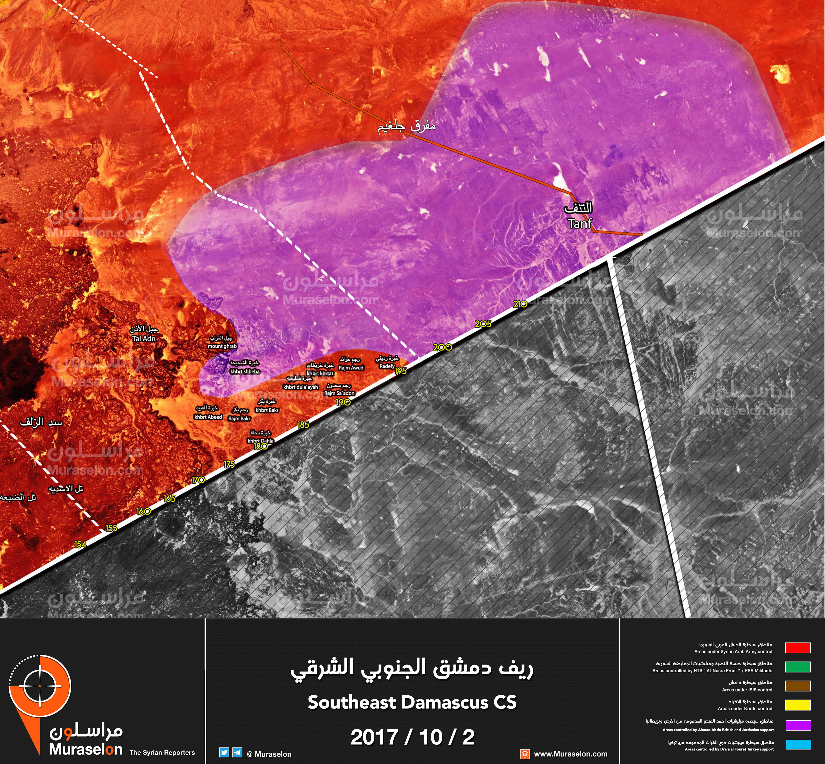 Syria Map Update Syrian Army Allies Seize More Outposts Along Jordanian Borders