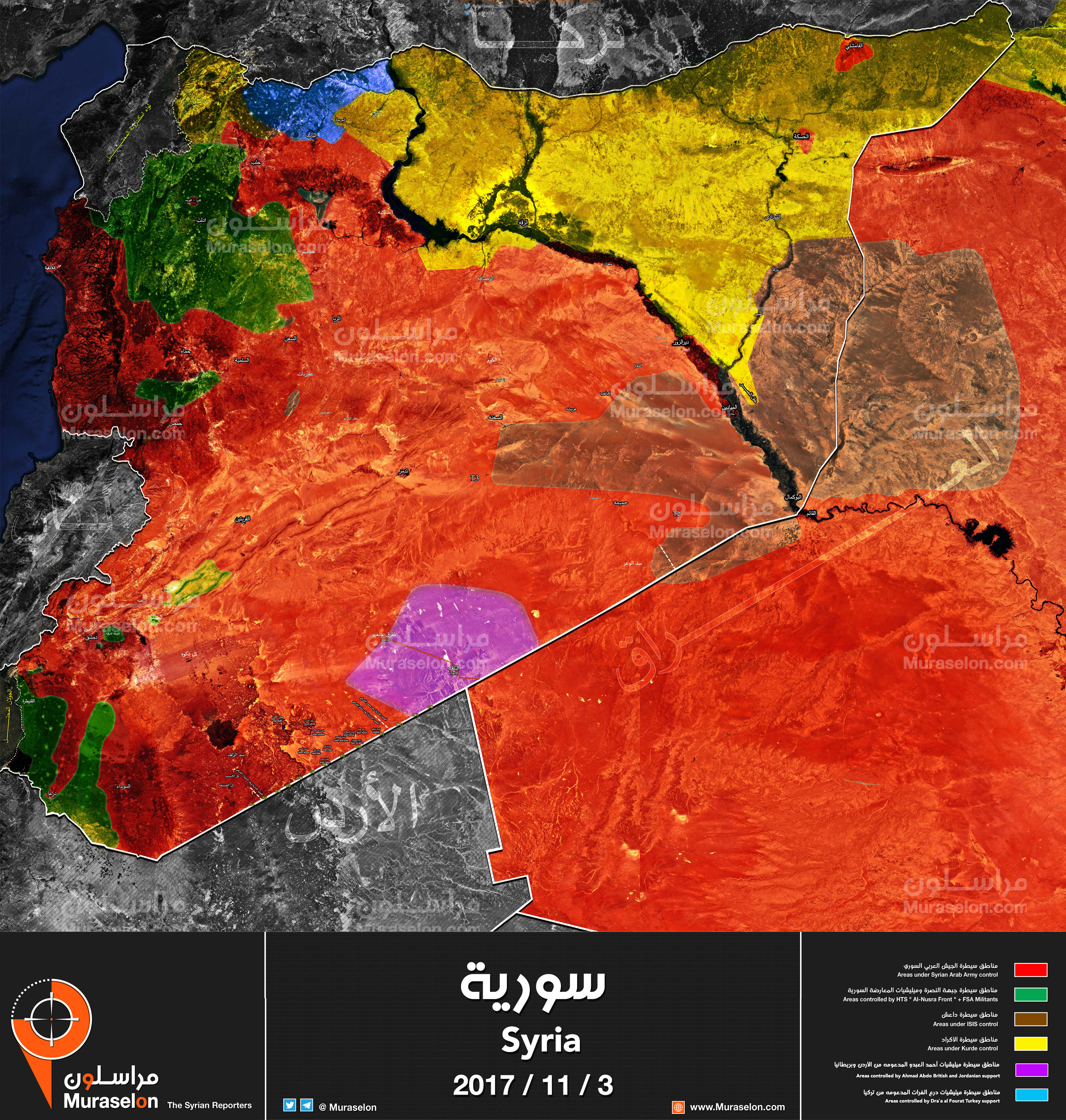 Updated Syria Map Who Control What Muraselon - Syria map