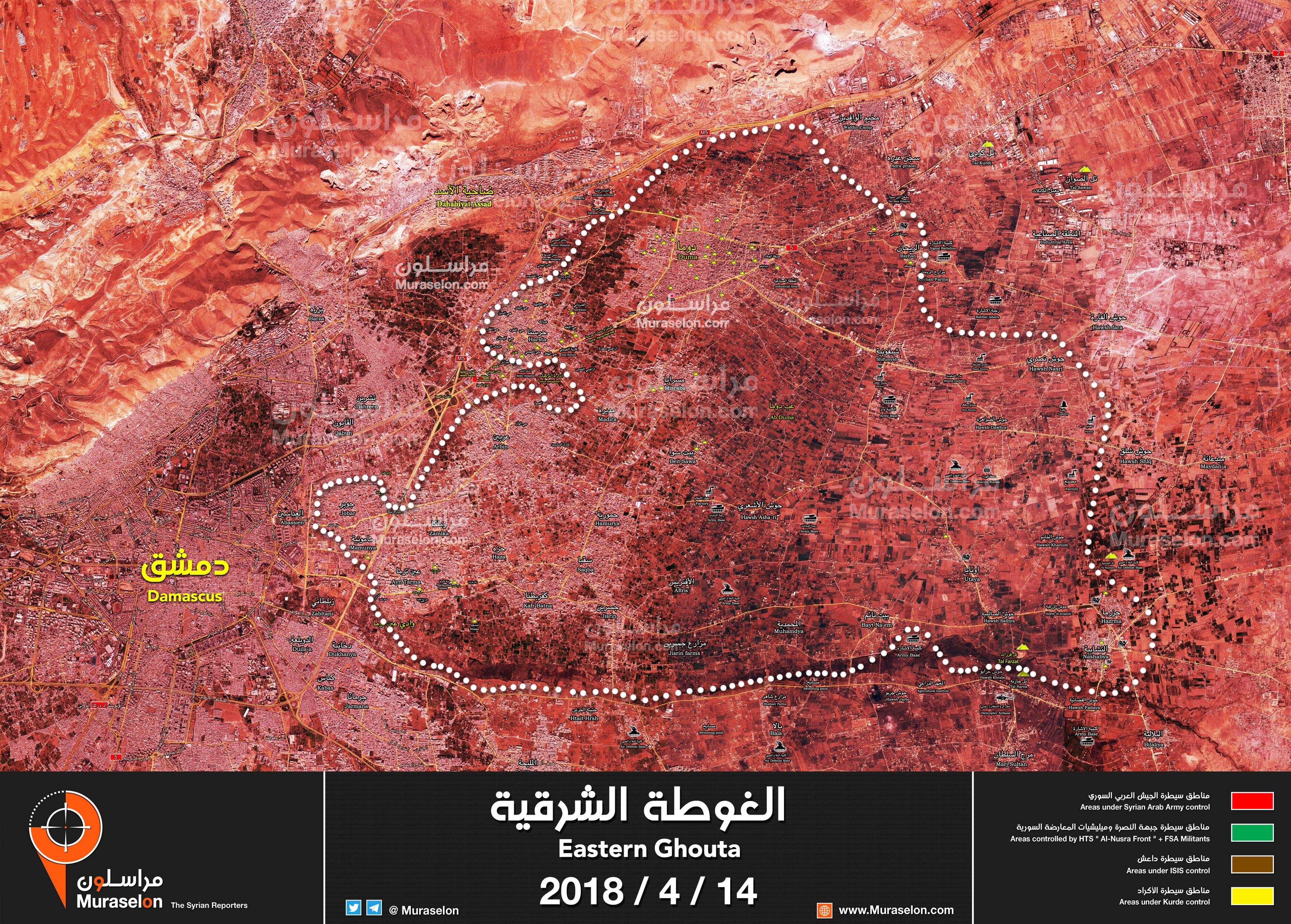 Syria Map Update Syrian Army Declares Victory in Eastern Ghouta