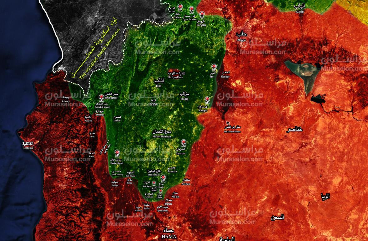 Map: Turkey establishes the final observation post in southwest Idlib | Muraselon