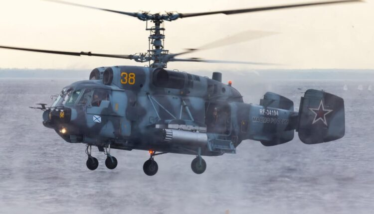 "Drills of Russian Helicopters On "" Blind Landing "" On Shipboard (VIDEO)"